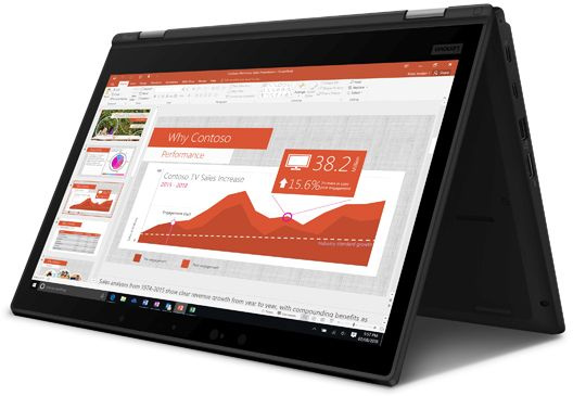 "Ноутбук Lenovo ThinkPad L390 Yoga Core i5 8265U/8Gb/SSD256Gb/Intel UHD Graphics 620/13.3""/IPS/Touch/FHD (1920x1080)/Windows 10 Professional/black/WiFi/BT/Cam"
