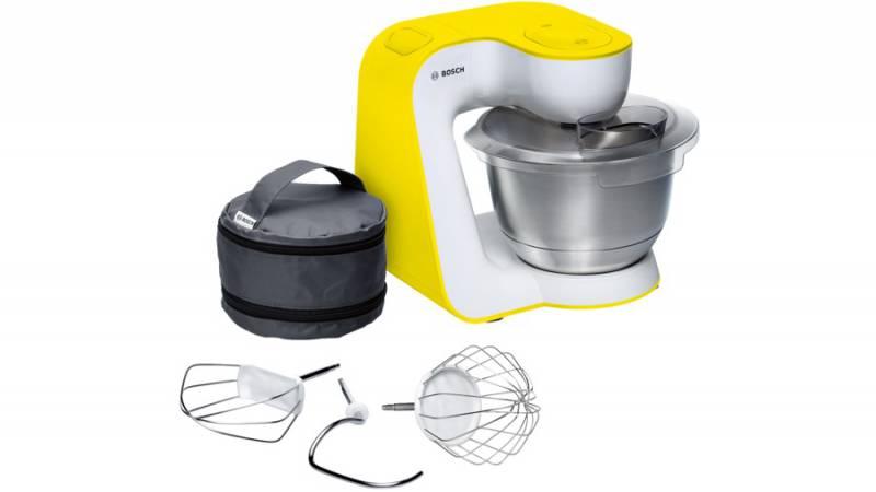 Кухонный комбайн Bosch MUM54Y00 900Вт белый/желтый
