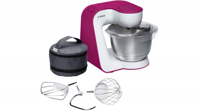 Кухонный комбайн Bosch MUM54P00 900Вт белый/розовый