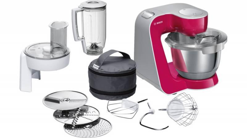 Кухонная машина Bosch MUM58420 планетар.вращ. 1000Вт рубиновый/серебристый