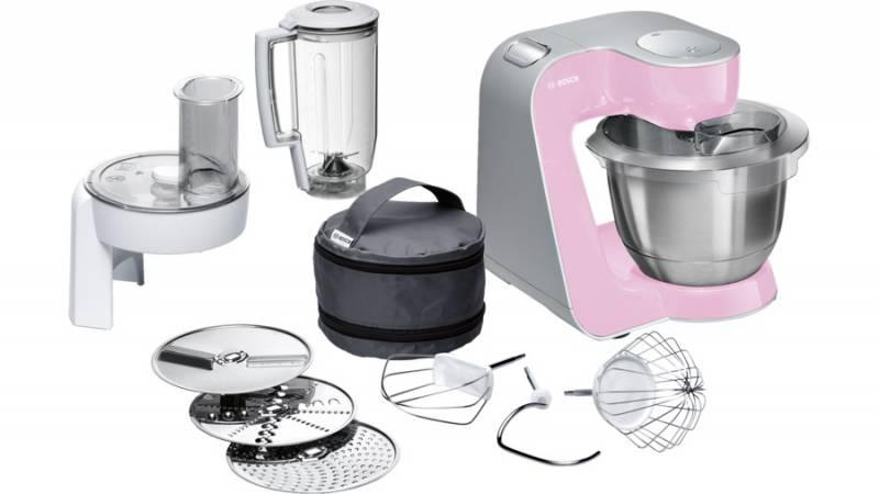 Кухонный комбайн Bosch MUM58K20 1000Вт розовый/серебристый