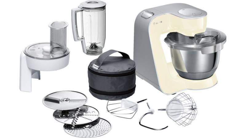 Кухонная машина Bosch MUM58920 планетар.вращ. 1000Вт ванильный/серебристый