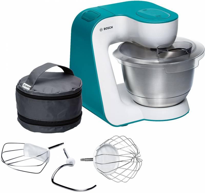 Кухонный комбайн Bosch MUM54D00 900Вт белый/бирюзовый