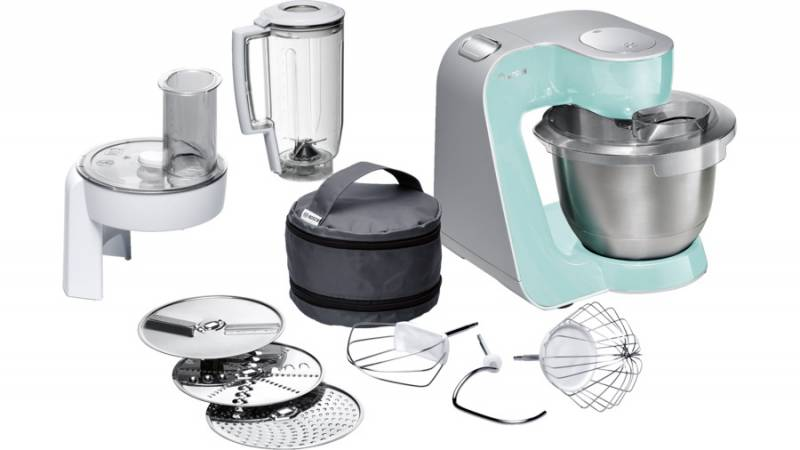 Кухонная машина Bosch MUM58020 планетар.вращ. 1000Вт мятный/серебристый