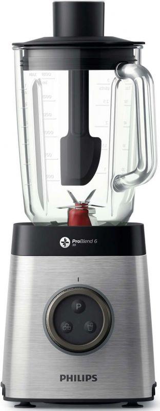 Блендер стационарный Philips HR3655/00 1400Вт серебристый/черный