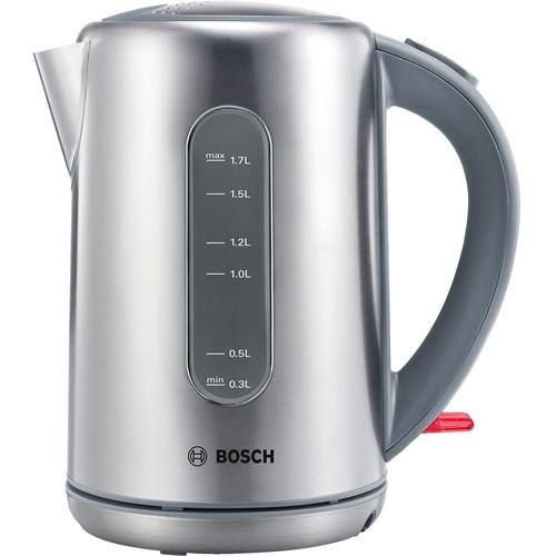 Чайник электрический Bosch TWK7901 1.7л. 2200Вт серебристый (корпус: нержавеющая сталь/пластик)