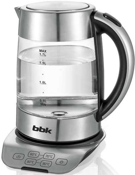 Чайник электрический BBK EK1723G 1.7л. 2200Вт нержавеющая сталь (корпус: нержавеющая сталь/стекло)