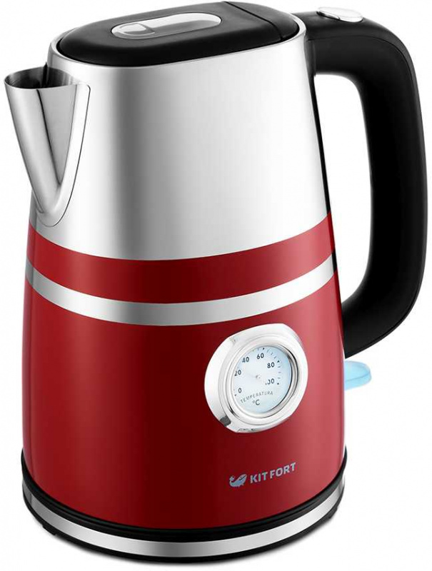 Чайник электрический Kitfort КТ-670-2 1.7л. 2200Вт красный (корпус: металл)