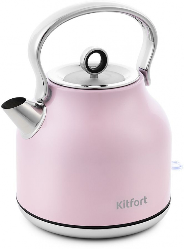Чайник электрический Kitfort КТ-671-4 1.7л. 2250Вт розовый (корпус: нержавеющая сталь)