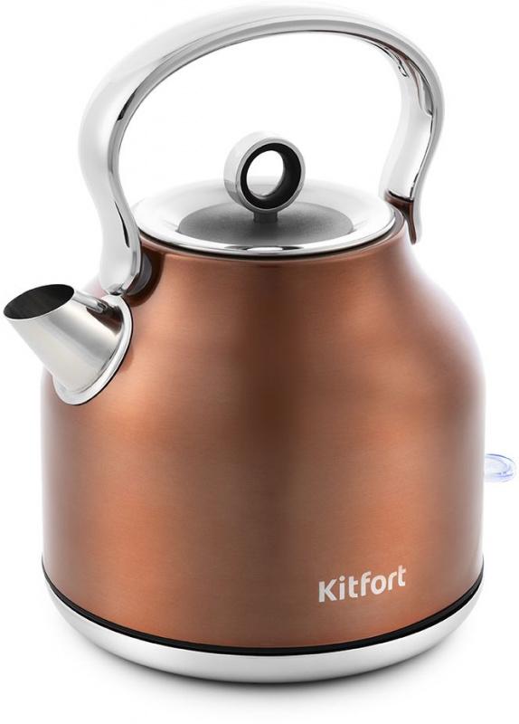 Чайник электрический Kitfort КТ-671-5 1.7л. 2250Вт бронзовый (корпус: нержавеющая сталь)
