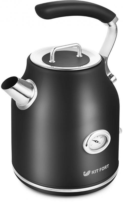 Чайник электрический Kitfort КТ-663-2 1.7л. 2200Вт черный (корпус: металл)