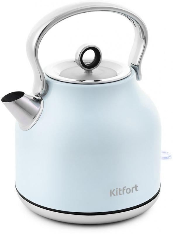 Чайник электрический Kitfort КТ-671-3 1.7л. 2250Вт голубой (корпус: нержавеющая сталь)