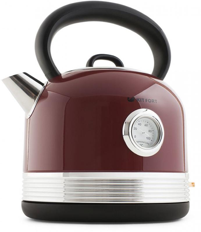 Чайник электрический Kitfort КТ-634-2 1.7л. 2150Вт красный (корпус: пластик)