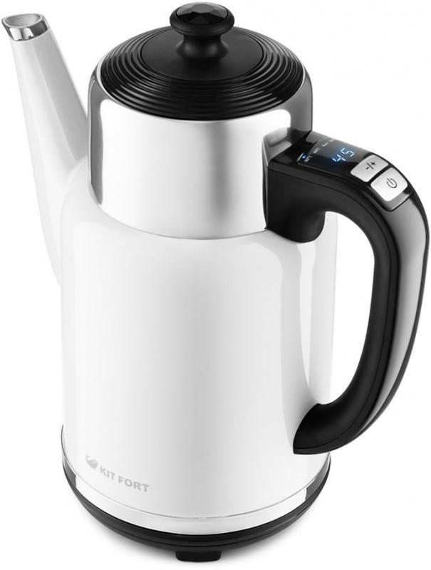 Чайник электрический Kitfort КТ-668-2 1.7л. 1785Вт белый (корпус: металл)