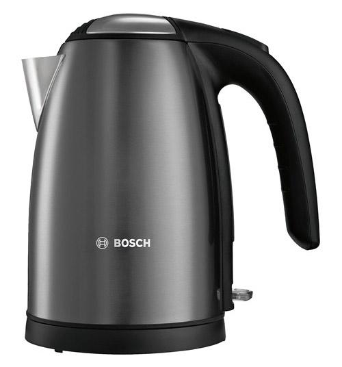 Чайник электрический Bosch TWK7805 1.7л. 2200Вт черный (корпус: металл)