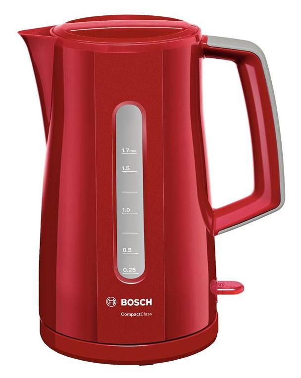 Чайник электрический Bosch TWK3A014 1.7л. 2400Вт красный (корпус: пластик)