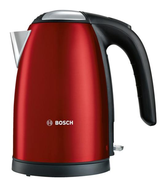 Чайник электрический Bosch TWK7804 1.7л. 2200Вт красный (корпус: металл)