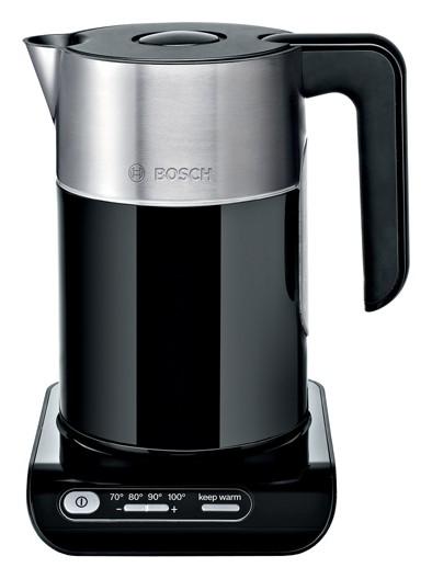 Чайник электрический Bosch TWK8613P 1.5л. 2400Вт черный/серебристый (корпус: нержавеющая сталь)