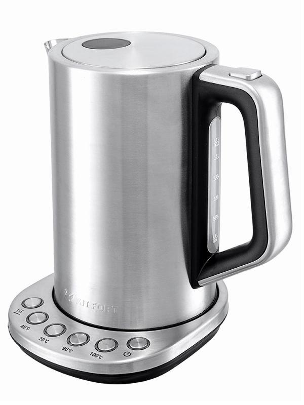 Чайник электрический Kitfort КТ-621 1.7л. 2200Вт серебристый (корпус: нержавеющая сталь)