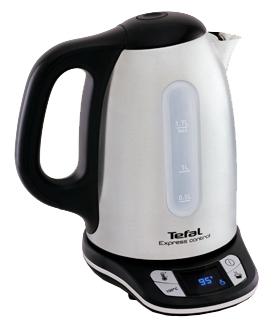 Чайник электрический Tefal KI240D 1.7л. 2400Вт белый/черный (корпус: нержавеющая сталь)