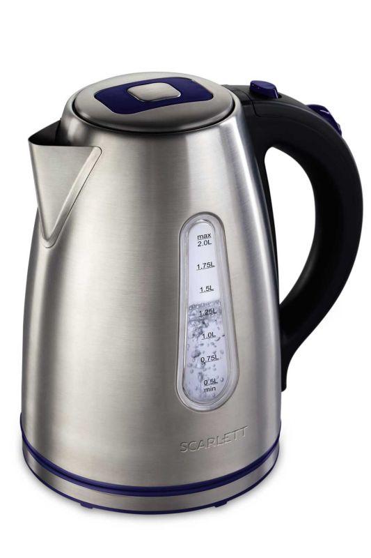 Чайник электрический Scarlett SC-EK21S57 2л. 2200Вт серебристый/черный (корпус: нержавеющая сталь)