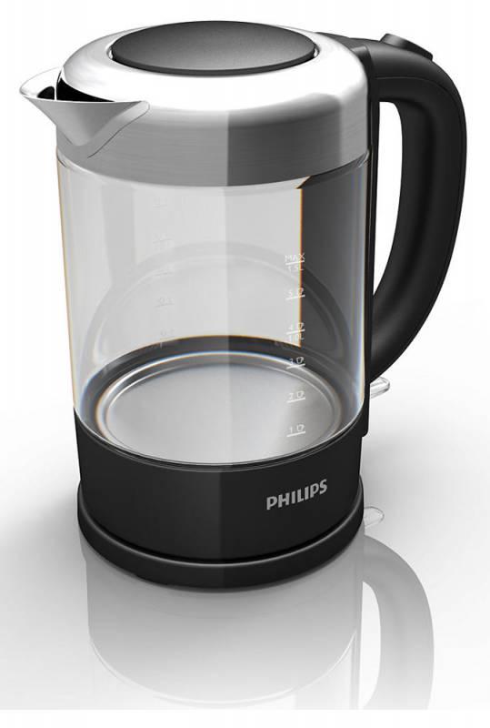 Чайник электрический Philips HD9340 1.5л. 2200Вт черный (корпус: стекло)