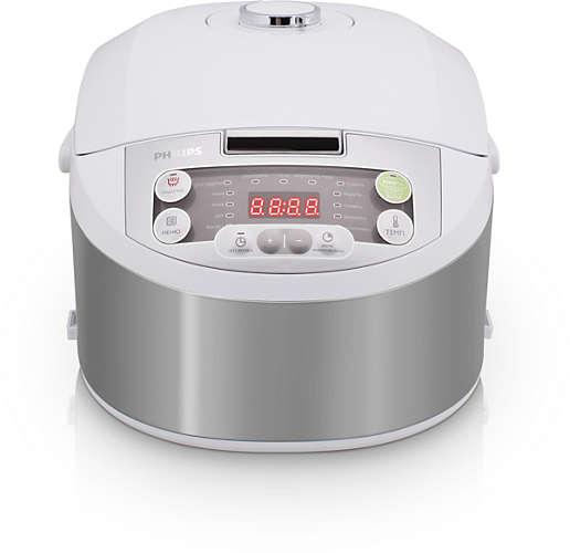 Мультиварка Philips HD3136/03 4л 980Вт серебристый/белый