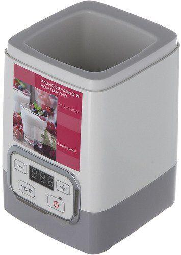 Йогуртница Scarlett SC-YM141P01 30Вт 1б. 200мл белый/серый