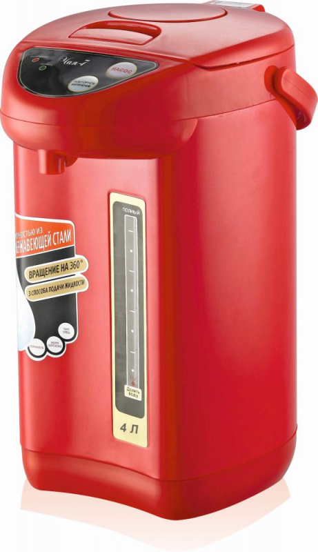 Термопот Великие Реки Чая-7 4л. 800Вт красный/черный (плохая упаковка)