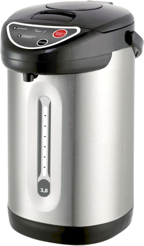 Термопот Великие Реки Чая-4 3.8л. 800Вт серебристый/черный (плохая упаковка)