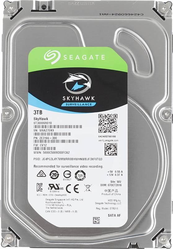 "Жесткий диск Seagate Original SATA-III 3Tb ST3000VX010 Video Skyhawk (5900rpm) 64Mb 3.5"""