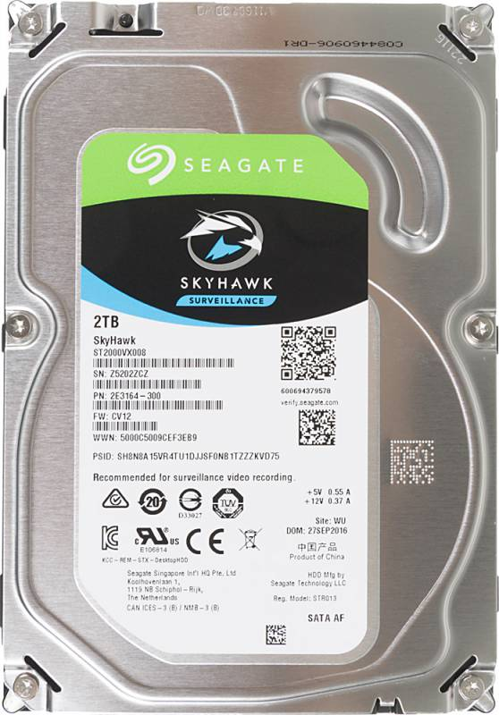 """Жесткий диск Seagate SATA-III 2Tb ST2000VX008 Video Skyhawk (5900rpm) 64Mb 3.5"""""""