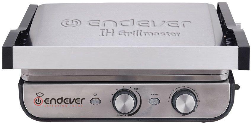 Электрогриль Endever Grillmaster 250 2300Вт серебристый/черный (плохая упаковка)