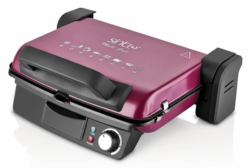 Электрогриль Sinbo SSM 2539 2000Вт красный/черный (плохая упаковка)