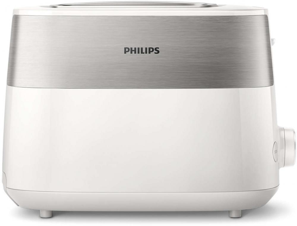 Тостер Philips HD2515 830Вт белый/стальной