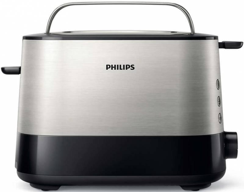 Тостер Philips HD2635/90 950Вт серебристый/черный