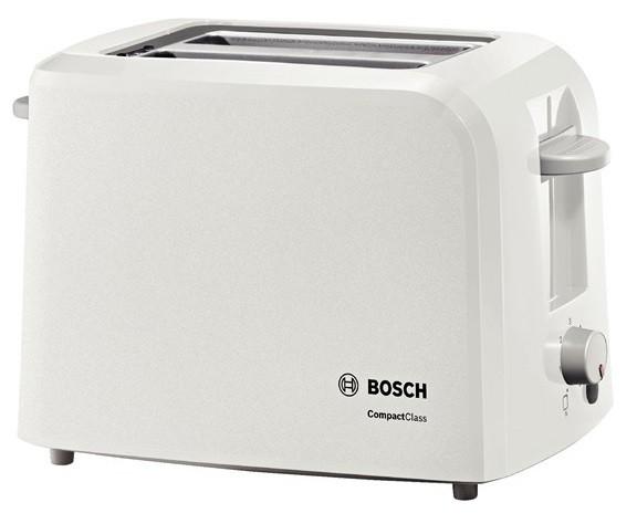Тостер Bosch TAT3A011 980Вт белый