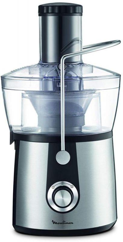 Соковыжималка центробежная Moulinex JU550D10 800Вт рез.сок.:2000мл. серебристый/черный