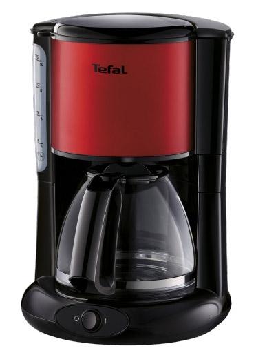 Кофеварка капельная Tefal CM361E38 1000Вт красный