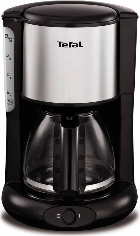 Кофеварка капельная Tefal CM361838 1000Вт серебристый/черный (плохая упаковка)