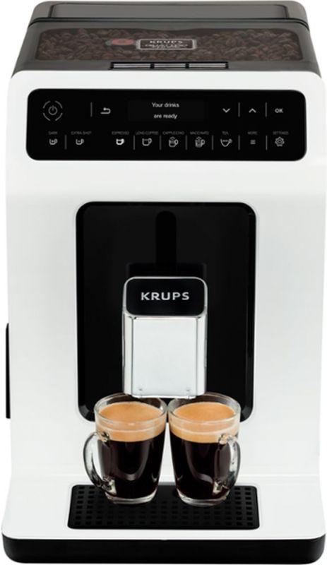 Кофемашина Krups EA890110 1450Вт белый/черный