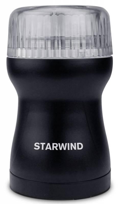 Кофемолка Starwind SGP4421 200Вт сист.помол.:ротац.нож вместим.:40гр черный