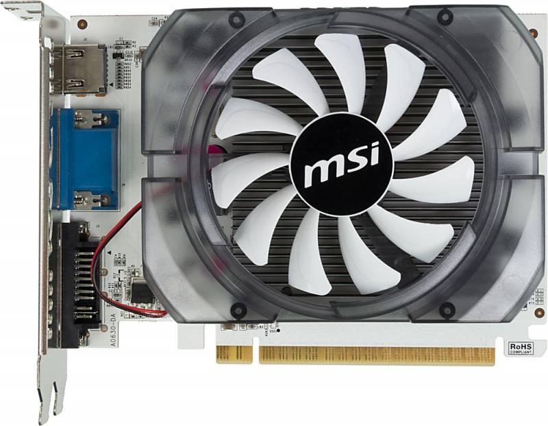 Видеокарта MSI PCI-E N730-2GD3V2 nVidia GeForce GT 730 2048Mb 128bit DDR3 700/1800 DVIx1/HDMIx1/CRTx1/HDCP Ret