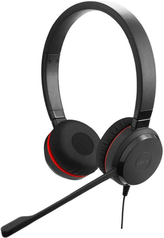 Наушники с микрофоном Jabra Evolve 30 II MS черный 1.2м накладные оголовье (5399-823-309)