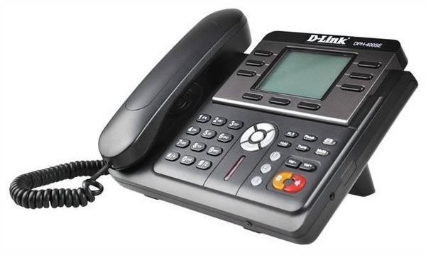 Телефон IP D-Link DPH-400SE черный (DPH-400SE/F)
