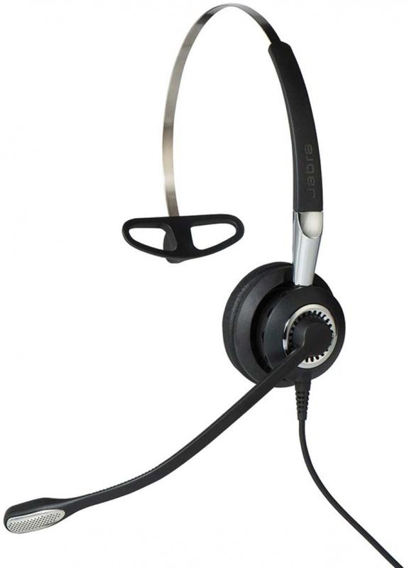 Наушники с микрофоном Jabra Biz 2400 II QD Mono NC черный накладные оголовье (2406-820-204)