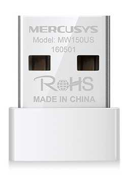 Сетевой адаптер WiFi Mercusys MW150US N150 USB 2.0