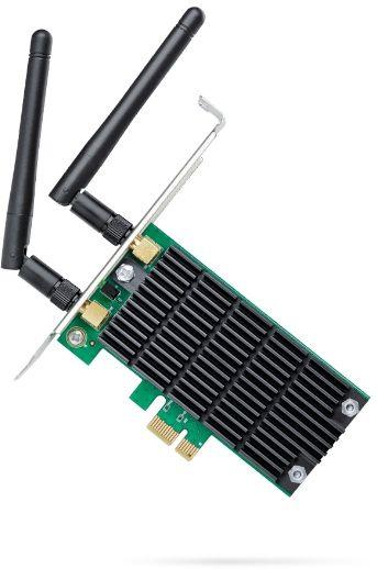 Сетевой адаптер WiFi TP-Link Archer T4E AC1200 PCI Express (ант.внеш.съем) 2ант.