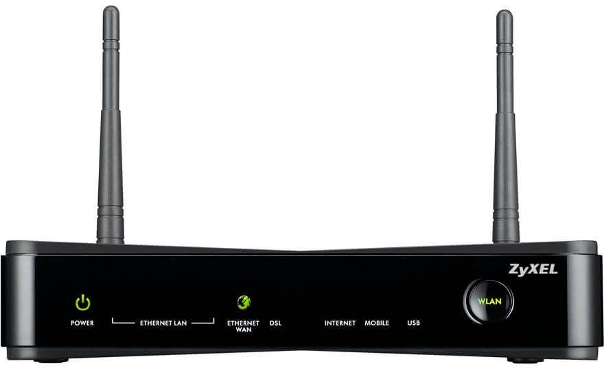 Роутер беспроводной Zyxel SBG3300-N000 (SBG3300-N000-EU02V1F) N300 10/100/1000BASE-TX/ADSL черный