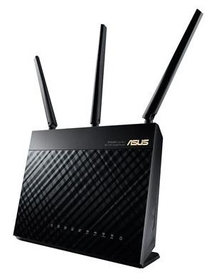 Роутер беспроводной Asus RT-AC68U AC1900 10/100/1000BASE-TX черный